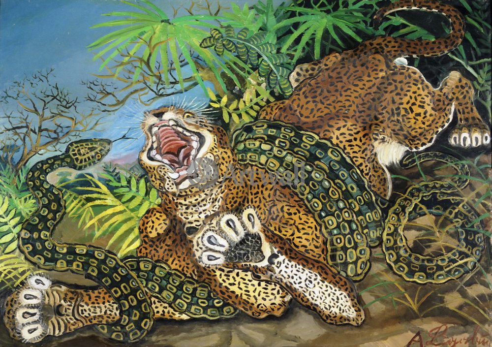 Примитивисты, картина Антонио Лигабуэ «Тигр»Примитивисты<br>Репродукция на холсте или бумаге. Любого нужного вам размера. В раме или без. Подвес в комплекте. Трехслойная надежная упаковка. Доставим в любую точку России. Вам осталось только повесить картину на стену!<br>