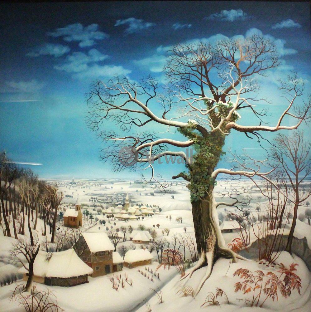 Примитивисты, картина Неизвестный американский художник XIX века «Дерево»Примитивисты<br>Репродукция на холсте или бумаге. Любого нужного вам размера. В раме или без. Подвес в комплекте. Трехслойная надежная упаковка. Доставим в любую точку России. Вам осталось только повесить картину на стену!<br>