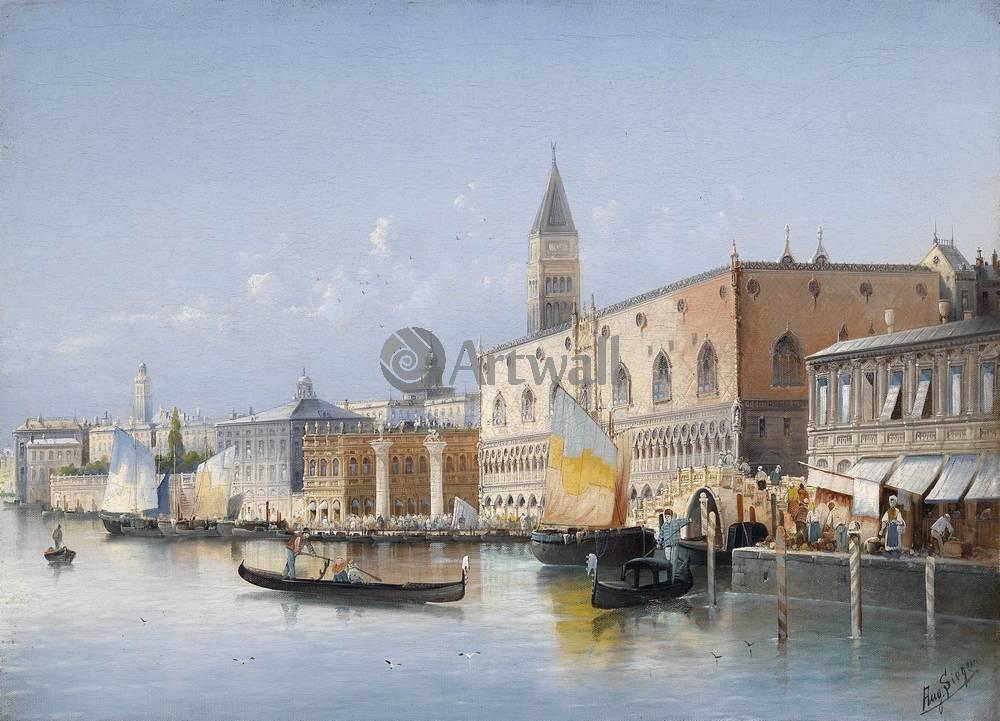 Постер Венеция - живопись Август фон Зиген, Вид ВенецииВенеция - живопись<br>Постер на холсте или бумаге. Любого нужного вам размера. В раме или без. Подвес в комплекте. Трехслойная надежная упаковка. Доставим в любую точку России. Вам осталось только повесить картину на стену!<br>
