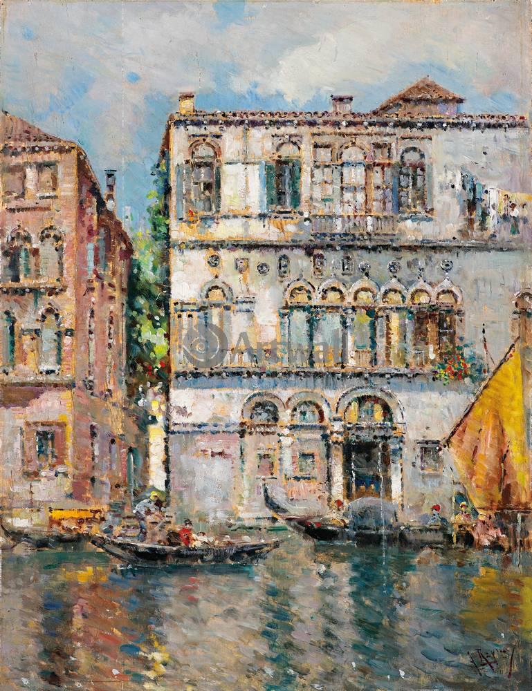 Венеция, картина Антон де Рейна-Манеска, ВенецияВенеция<br>Репродукция на холсте или бумаге. Любого нужного вам размера. В раме или без. Подвес в комплекте. Трехслойная надежная упаковка. Доставим в любую точку России. Вам осталось только повесить картину на стену!<br>