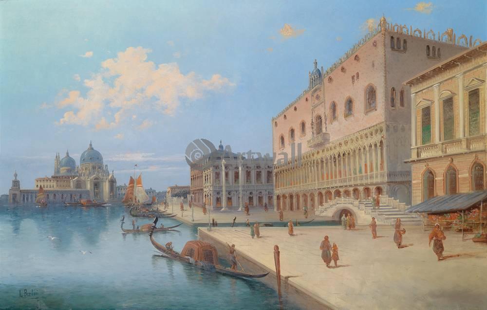 Венеция, картина Бертини, Вид Санта Мария делла СалютеВенеция<br>Репродукция на холсте или бумаге. Любого нужного вам размера. В раме или без. Подвес в комплекте. Трехслойная надежная упаковка. Доставим в любую точку России. Вам осталось только повесить картину на стену!<br>