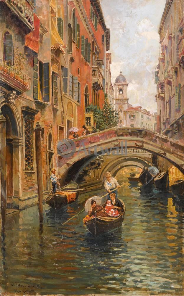 Постер Венеция - живопись Бранкаччо Карло, Венецианский каналВенеция - живопись<br>Постер на холсте или бумаге. Любого нужного вам размера. В раме или без. Подвес в комплекте. Трехслойная надежная упаковка. Доставим в любую точку России. Вам осталось только повесить картину на стену!<br>