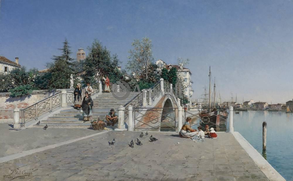 Венеция, картина Дель Кампо Федерико, Вид ВенецииВенеция<br>Репродукция на холсте или бумаге. Любого нужного вам размера. В раме или без. Подвес в комплекте. Трехслойная надежная упаковка. Доставим в любую точку России. Вам осталось только повесить картину на стену!<br>
