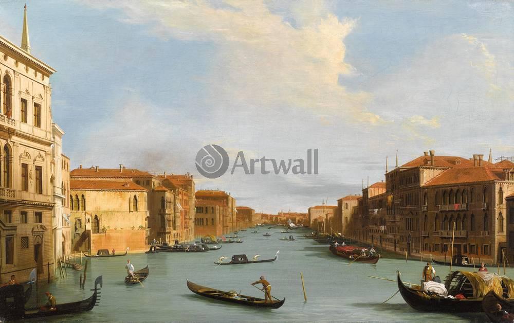 Постер Венеция - живопись Каналетто, Гранд КаналВенеция - живопись<br>Постер на холсте или бумаге. Любого нужного вам размера. В раме или без. Подвес в комплекте. Трехслойная надежная упаковка. Доставим в любую точку России. Вам осталось только повесить картину на стену!<br>