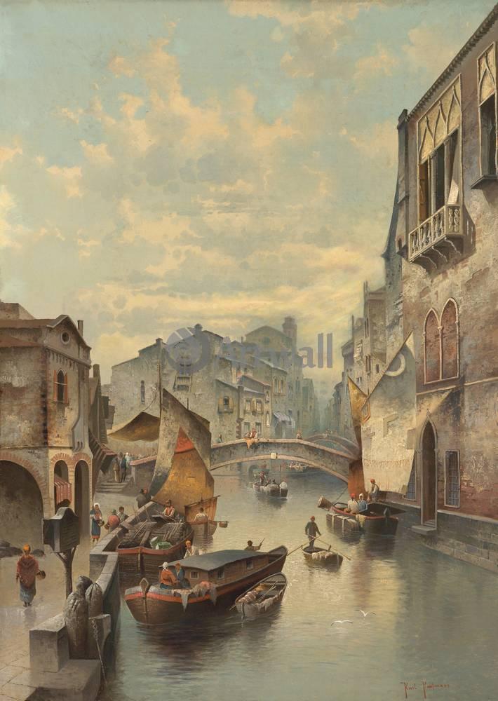 Венеция, картина Кауфман Карл, Вид ВенецииВенеция<br>Репродукция на холсте или бумаге. Любого нужного вам размера. В раме или без. Подвес в комплекте. Трехслойная надежная упаковка. Доставим в любую точку России. Вам осталось только повесить картину на стену!<br>