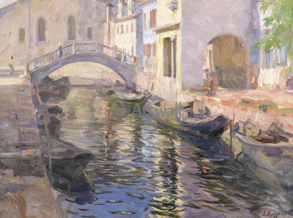 Постер Венеция - живопись Леонардо Баззаро, Канал в ВенецииВенеция - живопись<br>Постер на холсте или бумаге. Любого нужного вам размера. В раме или без. Подвес в комплекте. Трехслойная надежная упаковка. Доставим в любую точку России. Вам осталось только повесить картину на стену!<br>