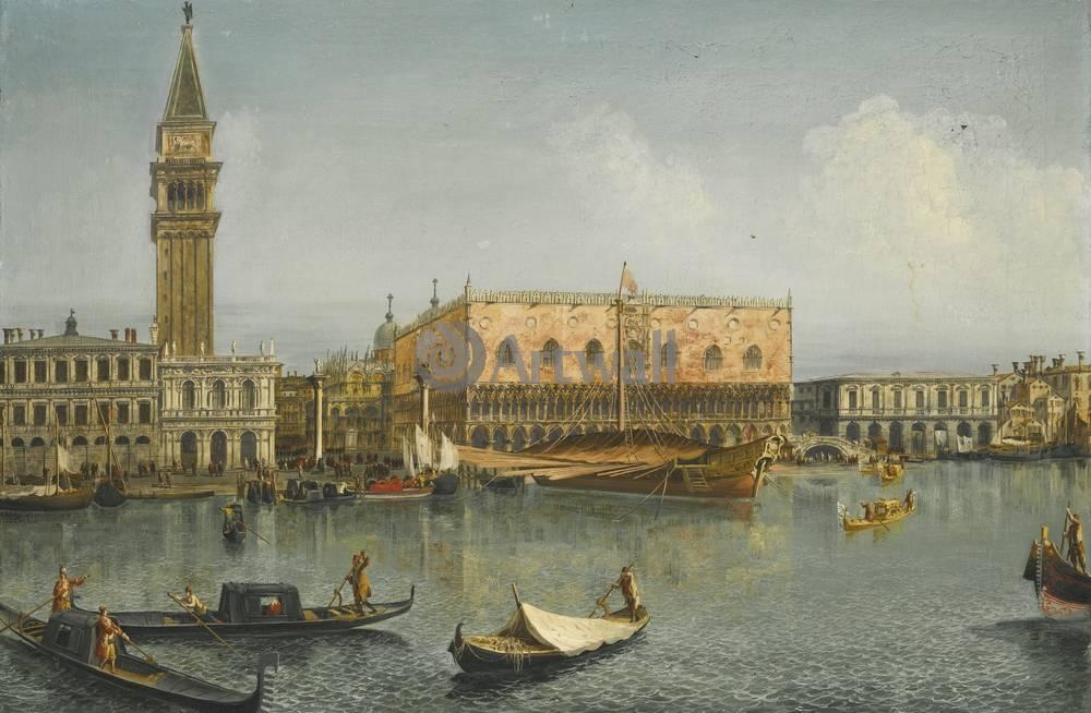 Постер Венеция - живопись Мариески Микеле, Вид ВенецииВенеция - живопись<br>Постер на холсте или бумаге. Любого нужного вам размера. В раме или без. Подвес в комплекте. Трехслойная надежная упаковка. Доставим в любую точку России. Вам осталось только повесить картину на стену!<br>