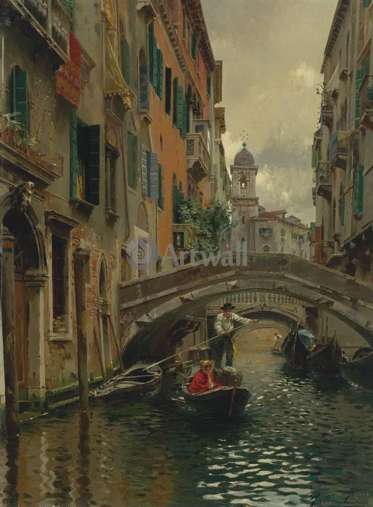 Венеция, картина Санторо Рубенс, Тихий канал в ВенецииВенеция<br>Репродукция на холсте или бумаге. Любого нужного вам размера. В раме или без. Подвес в комплекте. Трехслойная надежная упаковка. Доставим в любую точку России. Вам осталось только повесить картину на стену!<br>