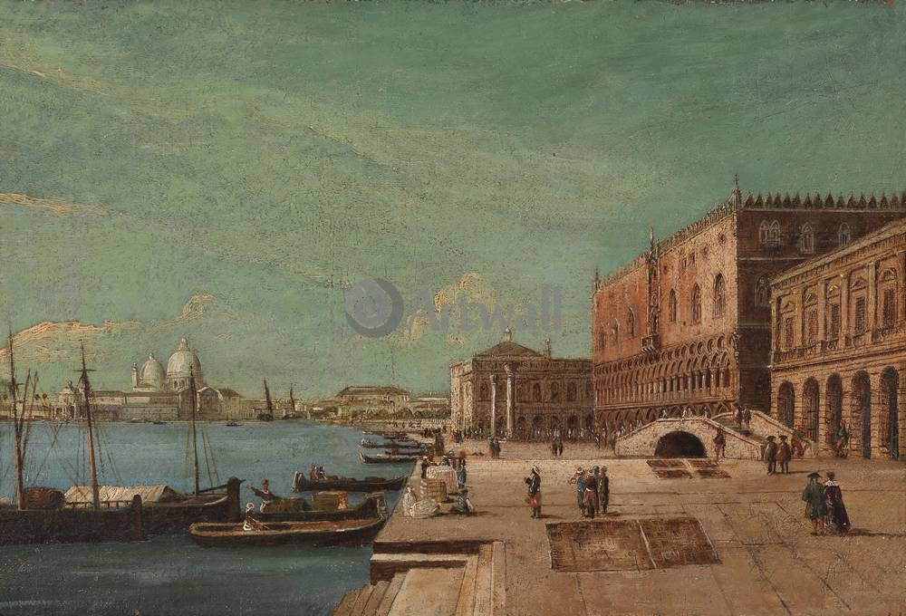 Венеция, картина Франческо Тирони, Дворец дожейВенеция<br>Репродукция на холсте или бумаге. Любого нужного вам размера. В раме или без. Подвес в комплекте. Трехслойная надежная упаковка. Доставим в любую точку России. Вам осталось только повесить картину на стену!<br>