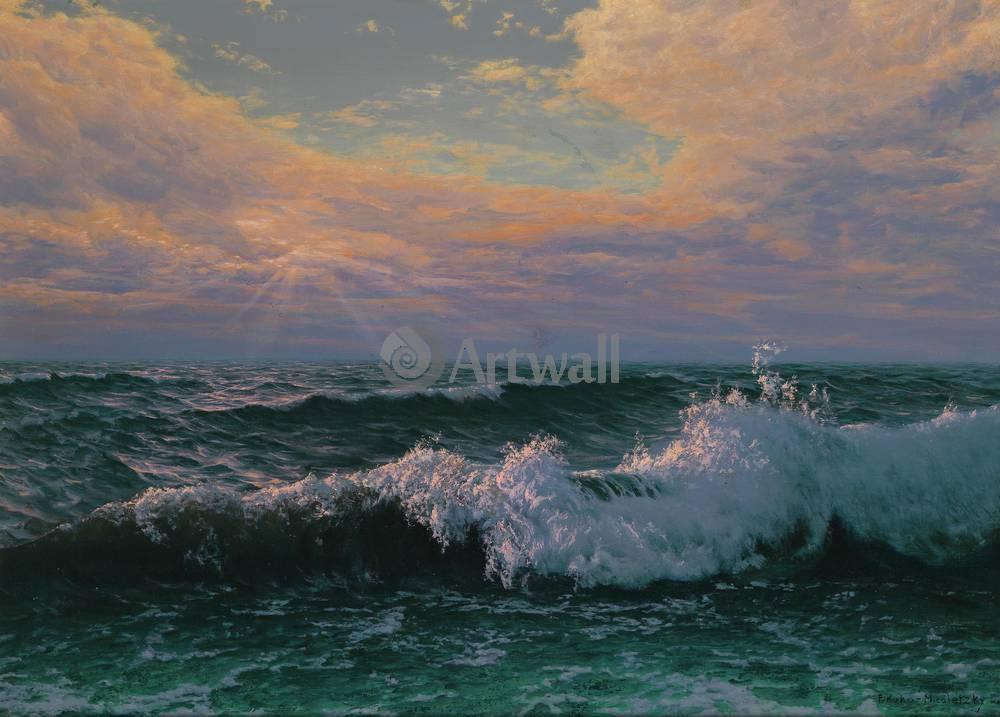 Пейзаж морской Неизвестный художник, ВолнаПейзаж морской<br>Репродукция на холсте или бумаге. Любого нужного вам размера. В раме или без. Подвес в комплекте. Трехслойная надежная упаковка. Доставим в любую точку России. Вам осталось только повесить картину на стену!<br>