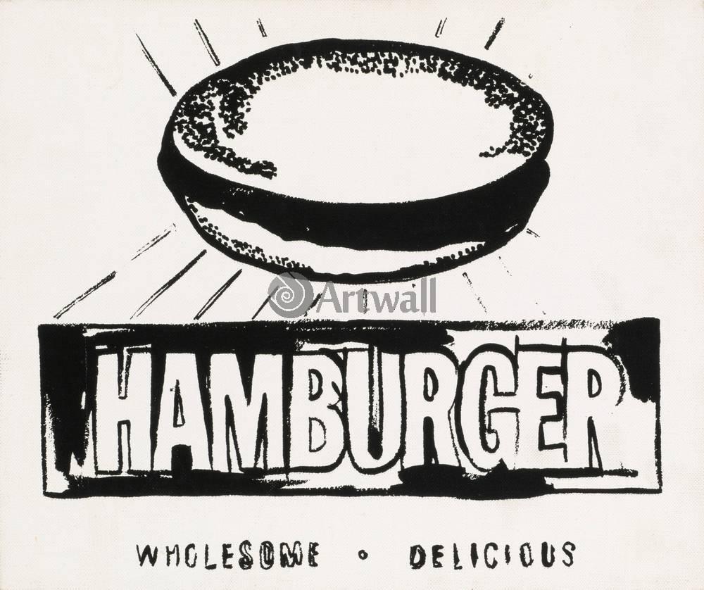 Уорхол Энди, картина ГамбургерУорхол Энди<br>Репродукция на холсте или бумаге. Любого нужного вам размера. В раме или без. Подвес в комплекте. Трехслойная надежная упаковка. Доставим в любую точку России. Вам осталось только повесить картину на стену!<br>