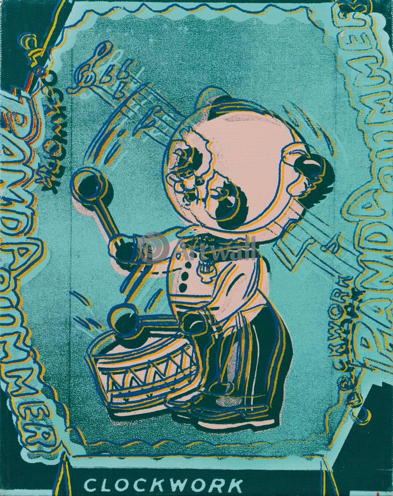 Художники, картина Заводной панда-барабанщик, 20x25 см, на бумагеУорхол Энди<br>Постер на холсте или бумаге. Любого нужного вам размера. В раме или без. Подвес в комплекте. Трехслойная надежная упаковка. Доставим в любую точку России. Вам осталось только повесить картину на стену!<br>