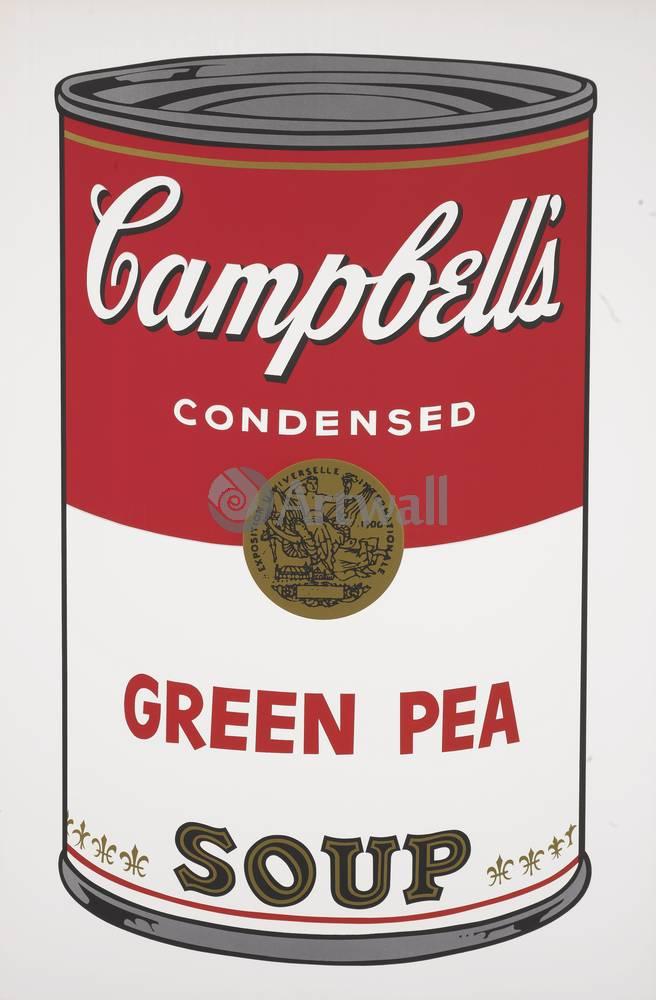 Уорхол Энди, картина Кемпбелл - Зеленый горошекУорхол Энди<br>Репродукция на холсте или бумаге. Любого нужного вам размера. В раме или без. Подвес в комплекте. Трехслойная надежная упаковка. Доставим в любую точку России. Вам осталось только повесить картину на стену!<br>
