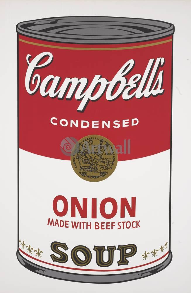 Уорхол Энди, картина Кемпбелл - Луковый суп с говядинойУорхол Энди<br>Репродукция на холсте или бумаге. Любого нужного вам размера. В раме или без. Подвес в комплекте. Трехслойная надежная упаковка. Доставим в любую точку России. Вам осталось только повесить картину на стену!<br>