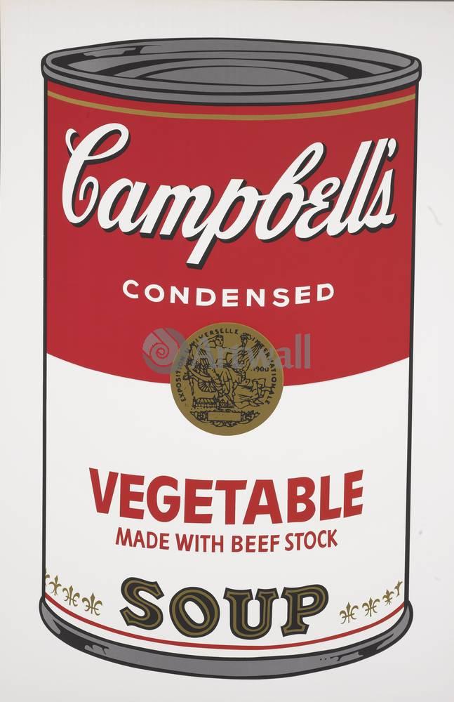 Уорхол Энди, картина Кемпбелл - Овощной супУорхол Энди<br>Репродукция на холсте или бумаге. Любого нужного вам размера. В раме или без. Подвес в комплекте. Трехслойная надежная упаковка. Доставим в любую точку России. Вам осталось только повесить картину на стену!<br>