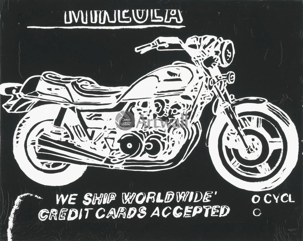 Уорхол Энди, картина МотоциклУорхол Энди<br>Репродукция на холсте или бумаге. Любого нужного вам размера. В раме или без. Подвес в комплекте. Трехслойная надежная упаковка. Доставим в любую точку России. Вам осталось только повесить картину на стену!<br>