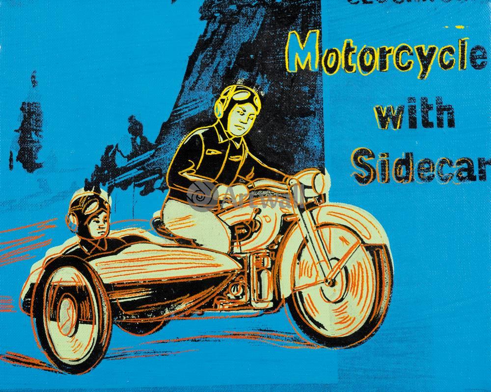 Уорхол Энди, картина Мотоцикл с коляскойУорхол Энди<br>Репродукция на холсте или бумаге. Любого нужного вам размера. В раме или без. Подвес в комплекте. Трехслойная надежная упаковка. Доставим в любую точку России. Вам осталось только повесить картину на стену!<br>