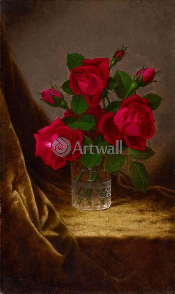 Цветы, картина Мартин Хеде, Розы в стаканеЦветы<br>Репродукция на холсте или бумаге. Любого нужного вам размера. В раме или без. Подвес в комплекте. Трехслойная надежная упаковка. Доставим в любую точку России. Вам осталось только повесить картину на стену!<br>
