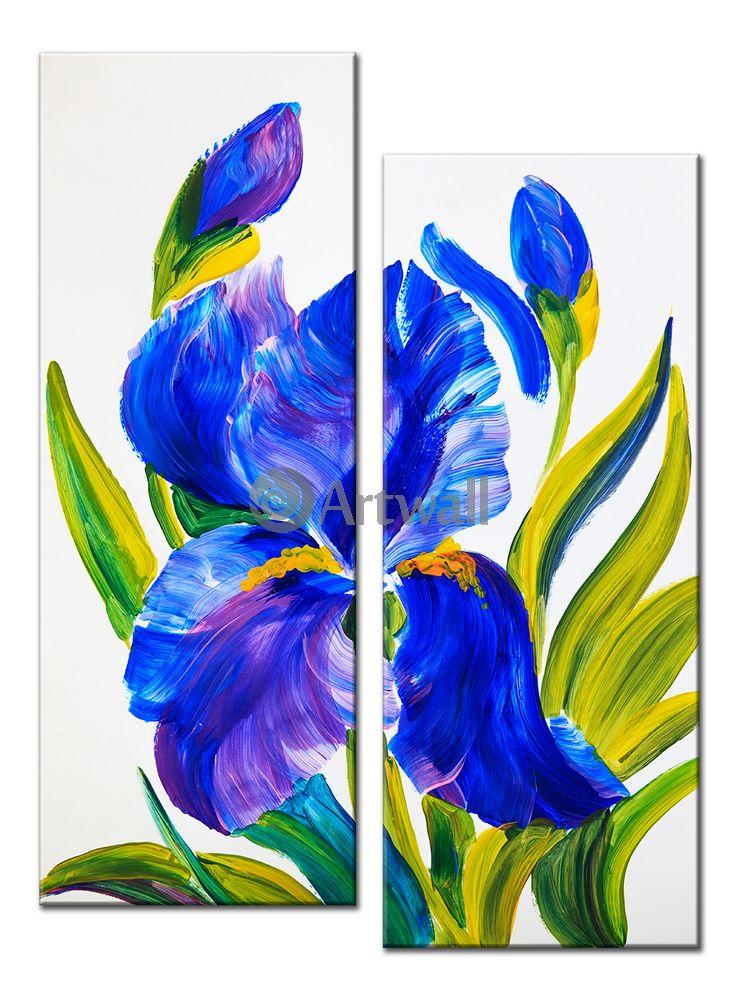 Модульная картина «Ирис»Цветы<br>Модульная картина на натуральном холсте и деревянном подрамнике. Подвес в комплекте. Трехслойная надежная упаковка. Доставим в любую точку России. Вам осталось только повесить картину на стену!<br>