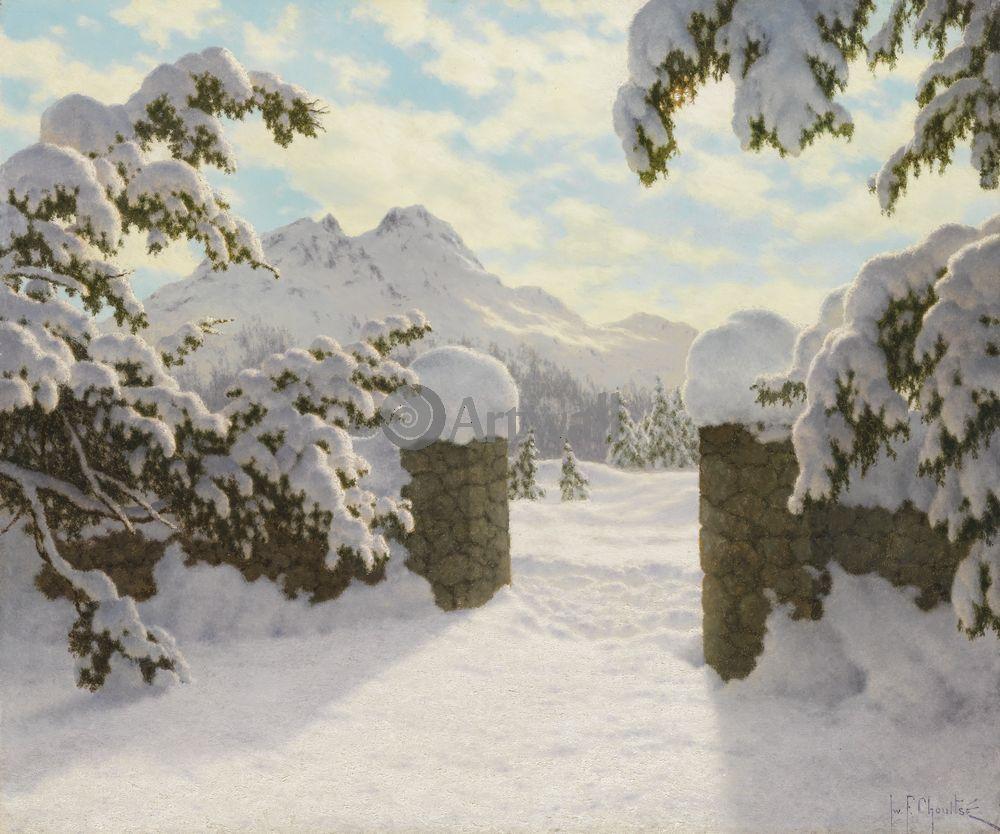 Шульце Иван, картина Зимнее солнце в ШвейцарииШульце Иван<br>Репродукция на холсте или бумаге. Любого нужного вам размера. В раме или без. Подвес в комплекте. Трехслойная надежная упаковка. Доставим в любую точку России. Вам осталось только повесить картину на стену!<br>