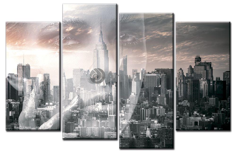 Модульная картина «Взгляд на Нью-Йорк»Города<br>Модульная картина на натуральном холсте и деревянном подрамнике. Подвес в комплекте. Трехслойная надежная упаковка. Доставим в любую точку России. Вам осталось только повесить картину на стену!<br>