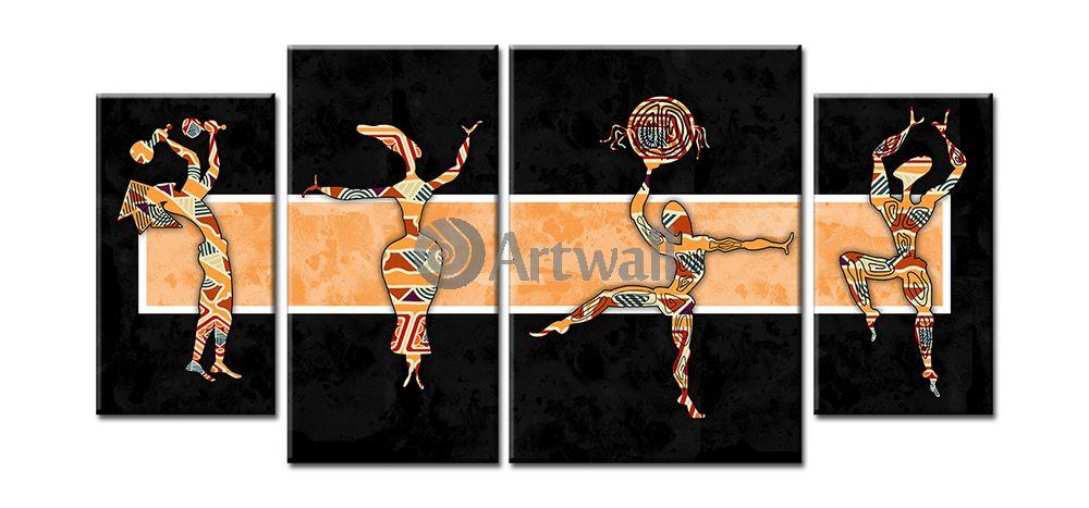 Модульная картина «Танцы»Африканские мотивы<br>Модульная картина на натуральном холсте и деревянном подрамнике. Подвес в комплекте. Трехслойная надежная упаковка. Доставим в любую точку России. Вам осталось только повесить картину на стену!<br>