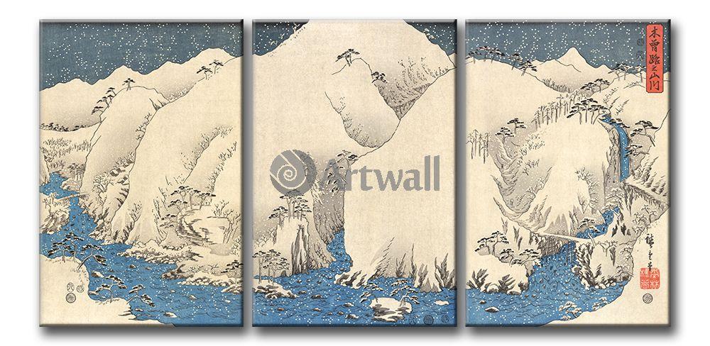 Полиптих 57343Японские полиптихи<br>Модульная картина на натуральном холсте и деревянном подрамнике. Подвес в комплекте. Трехслойная надежная упаковка. Доставим в любую точку России. Вам осталось только повесить картину на стену!<br>