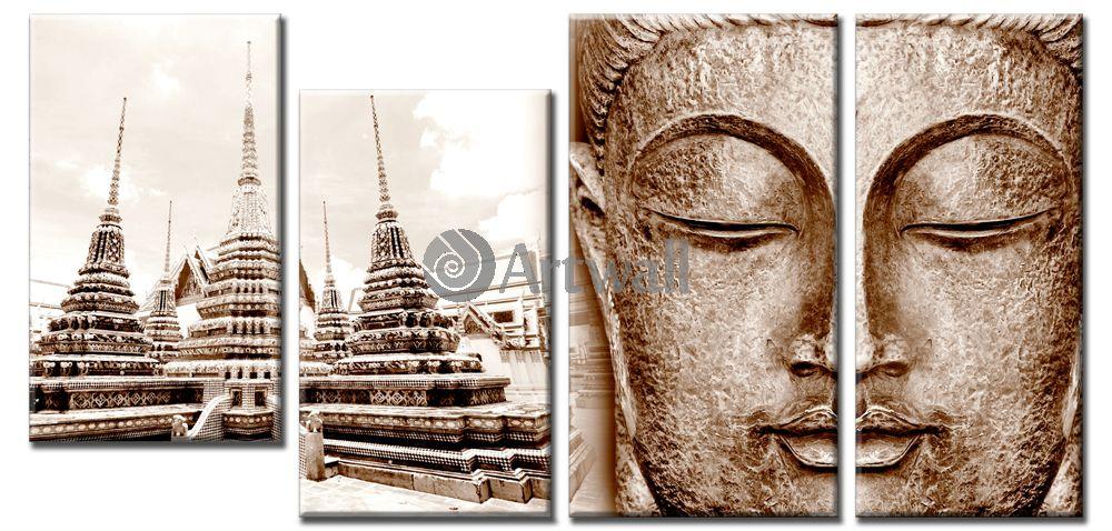 Модульная картина «Будда»Города<br>Модульная картина на натуральном холсте и деревянном подрамнике. Подвес в комплекте. Трехслойная надежная упаковка. Доставим в любую точку России. Вам осталось только повесить картину на стену!<br>