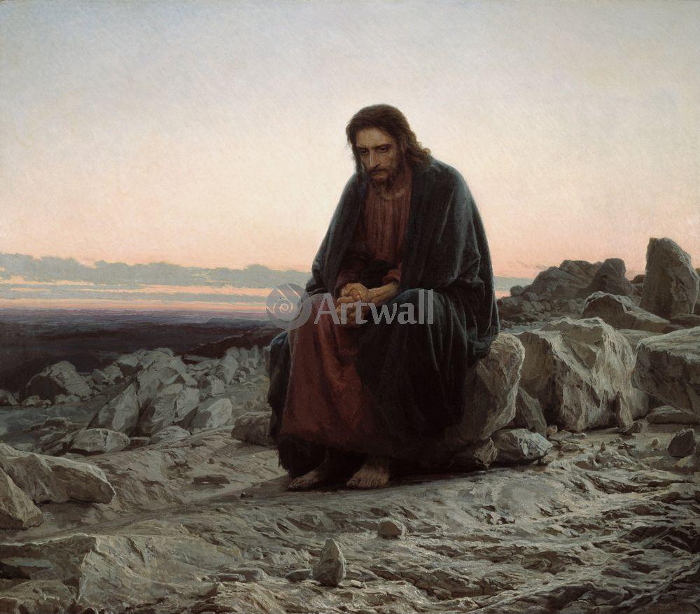 Крамской Иван, картина Христос в пустынеКрамской Иван<br>Репродукция на холсте или бумаге. Любого нужного вам размера. В раме или без. Подвес в комплекте. Трехслойная надежная упаковка. Доставим в любую точку России. Вам осталось только повесить картину на стену!<br>