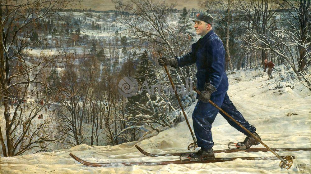 Бродский Исаак, картина Ворошилов на лыжахБродский Исаак<br>Репродукция на холсте или бумаге. Любого нужного вам размера. В раме или без. Подвес в комплекте. Трехслойная надежная упаковка. Доставим в любую точку России. Вам осталось только повесить картину на стену!<br>