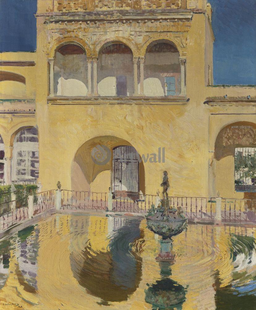 "Соролья Хоакин, картина ""Дворец Карла V, Алькасар, Севилья"" от Artwall"