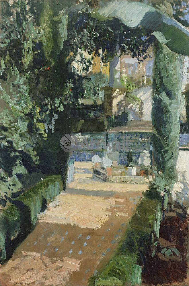 "Соролья Хоакин, картина ""Дворик танцующих, Алькасар, Севилья"" от Artwall"