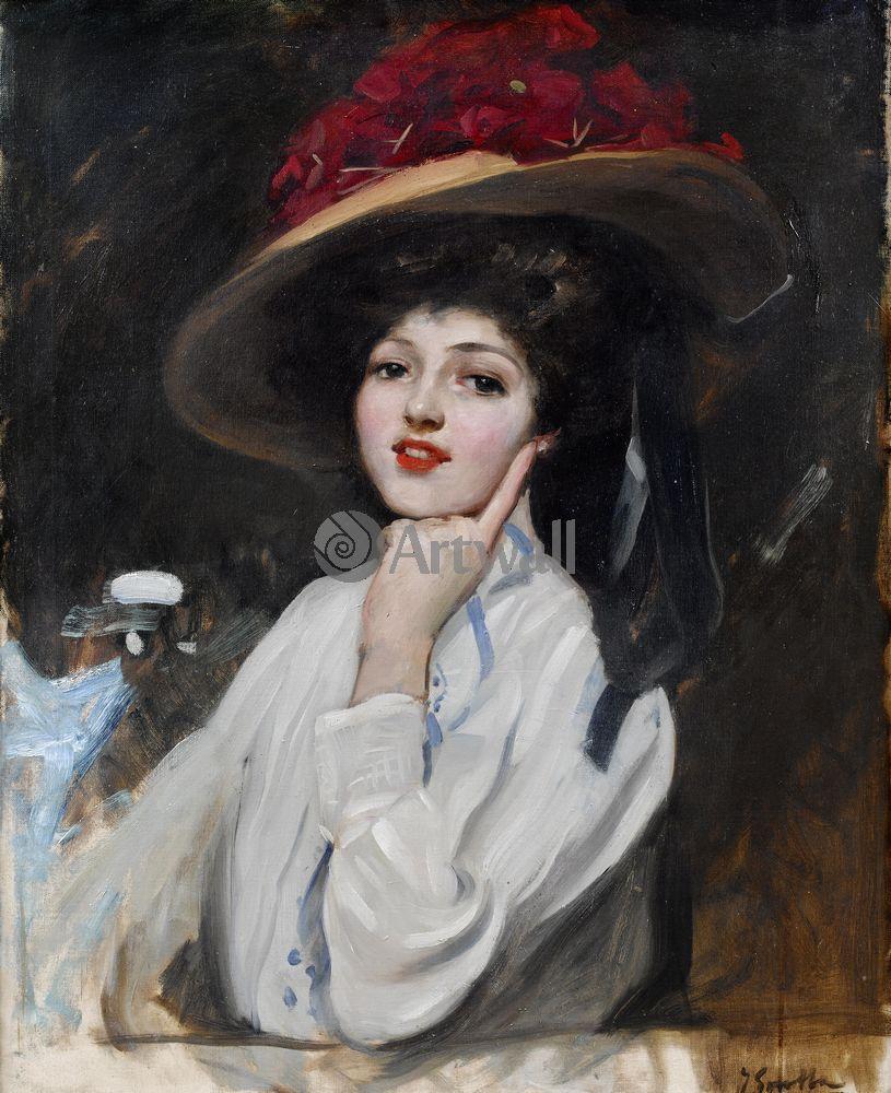Соролья Хоакин, картина Портрет молодой женщины в шляпеСоролья Хоакин<br>Репродукция на холсте или бумаге. Любого нужного вам размера. В раме или без. Подвес в комплекте. Трехслойная надежная упаковка. Доставим в любую точку России. Вам осталось только повесить картину на стену!<br>