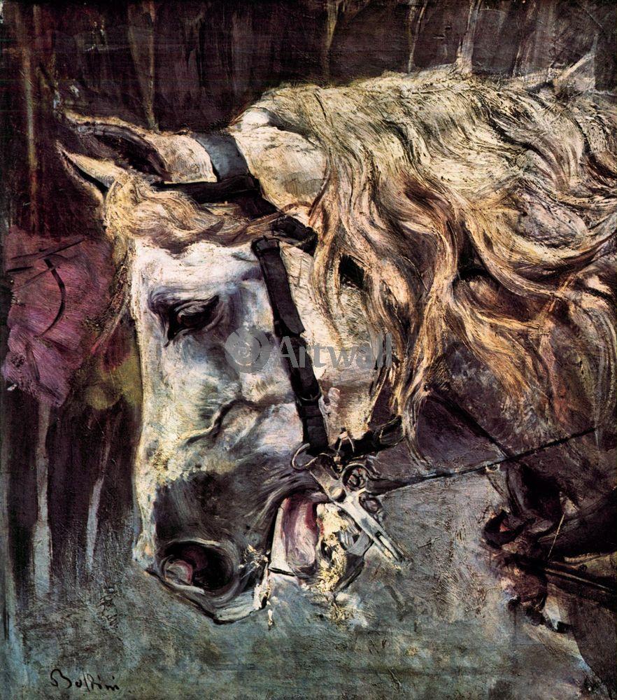 Больдини Джовани, картина Голова лошадиБольдини Джовани<br>Репродукция на холсте или бумаге. Любого нужного вам размера. В раме или без. Подвес в комплекте. Трехслойная надежная упаковка. Доставим в любую точку России. Вам осталось только повесить картину на стену!<br>