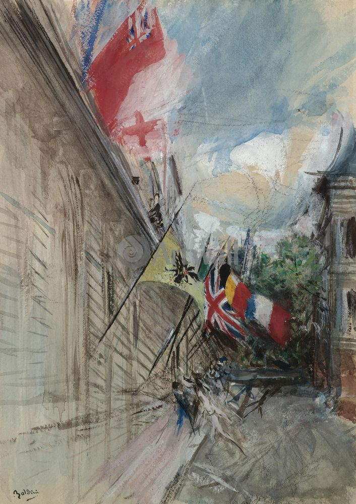Больдини Джовани, картина Париж, 14 июляБольдини Джовани<br>Репродукция на холсте или бумаге. Любого нужного вам размера. В раме или без. Подвес в комплекте. Трехслойная надежная упаковка. Доставим в любую точку России. Вам осталось только повесить картину на стену!<br>