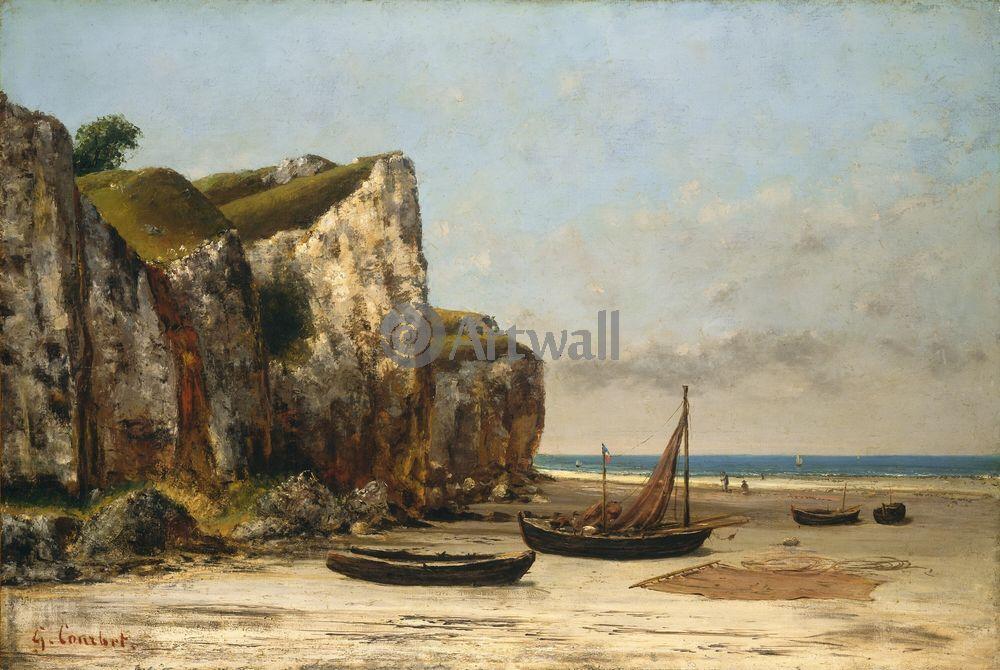 "Курбе Гюстав, картина ""Берег Нормандии"" от Artwall"