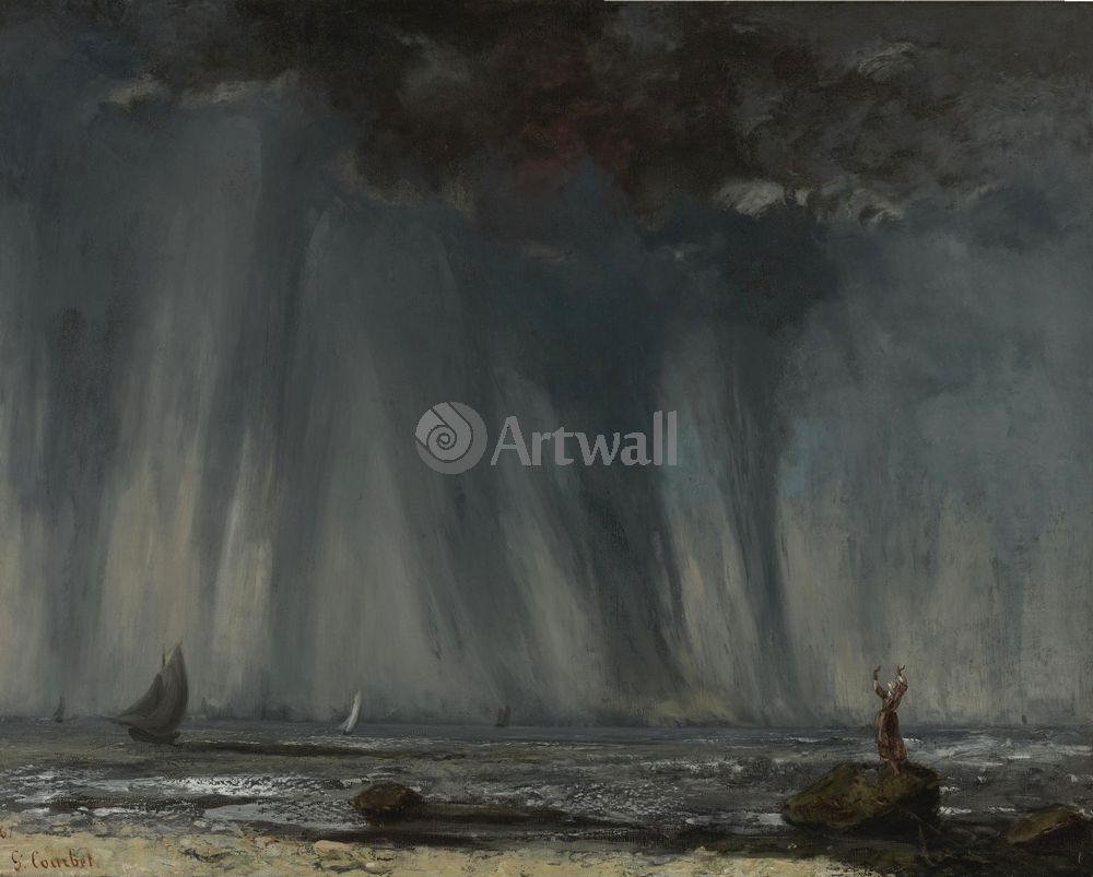 "Курбе Гюстав, картина ""Вихрь"" от Artwall"