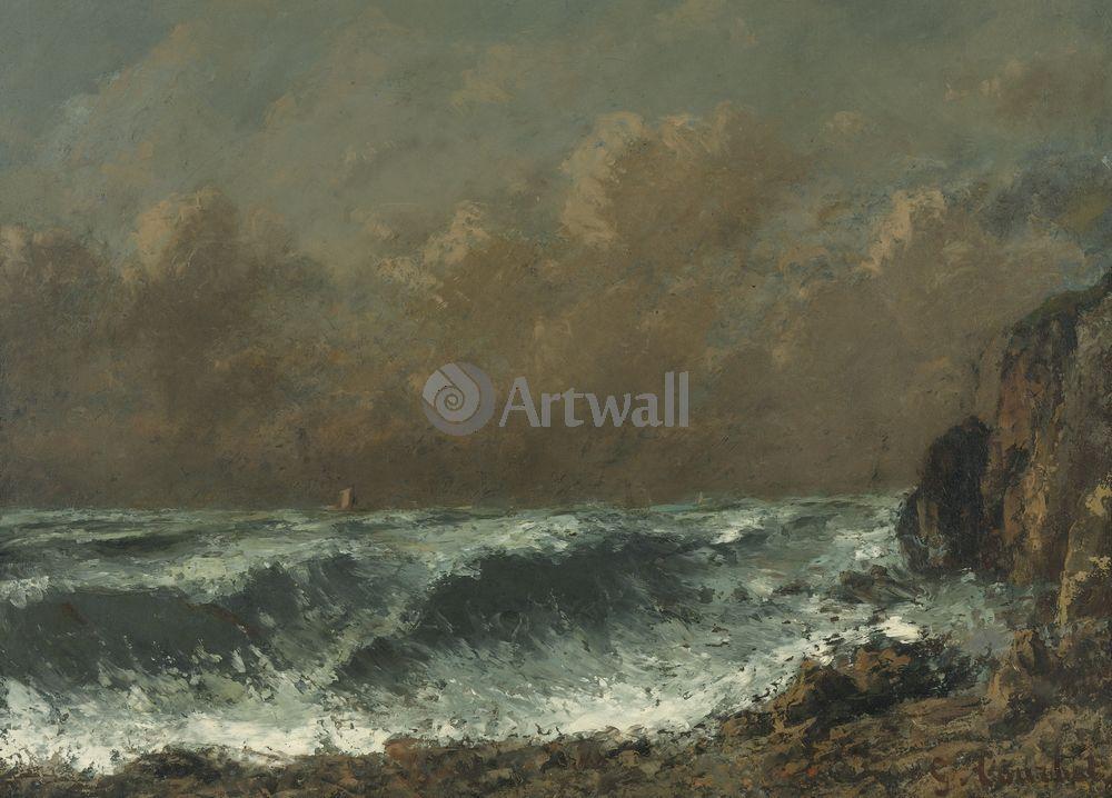 """Курбе Гюстав, картина """"Волна"""" от Artwall"""