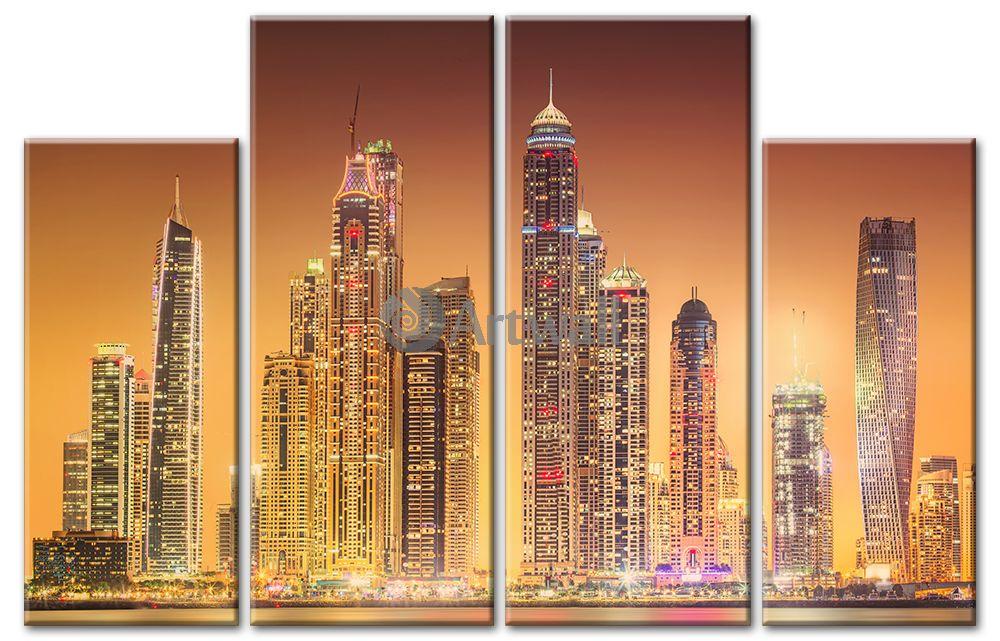 Модульная картина «Нью-Йорк в золоте»Города<br>Модульная картина на натуральном холсте и деревянном подрамнике. Подвес в комплекте. Трехслойная надежная упаковка. Доставим в любую точку России. Вам осталось только повесить картину на стену!<br>
