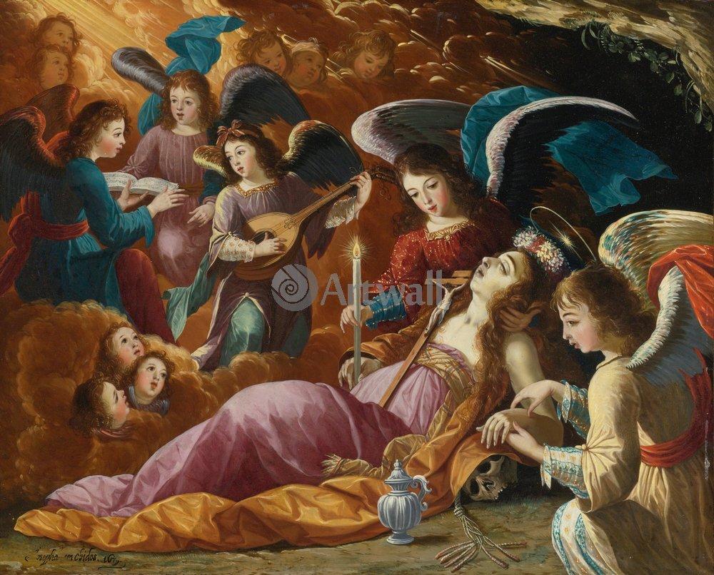 Мифологические и религиозные сюжеты, картина Кающаяся Мария Магдалина и утешающие её ангелы, Йозефа де Айала и КабрераМифологические и религиозные сюжеты<br>Репродукция на холсте или бумаге. Любого нужного вам размера. В раме или без. Подвес в комплекте. Трехслойная надежная упаковка. Доставим в любую точку России. Вам осталось только повесить картину на стену!<br>