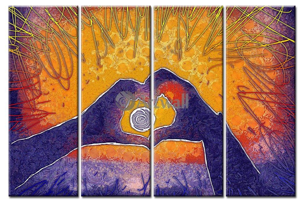Модульная картина «Это любовь»Люди<br>Модульная картина на натуральном холсте и деревянном подрамнике. Подвес в комплекте. Трехслойная надежная упаковка. Доставим в любую точку России. Вам осталось только повесить картину на стену!<br>