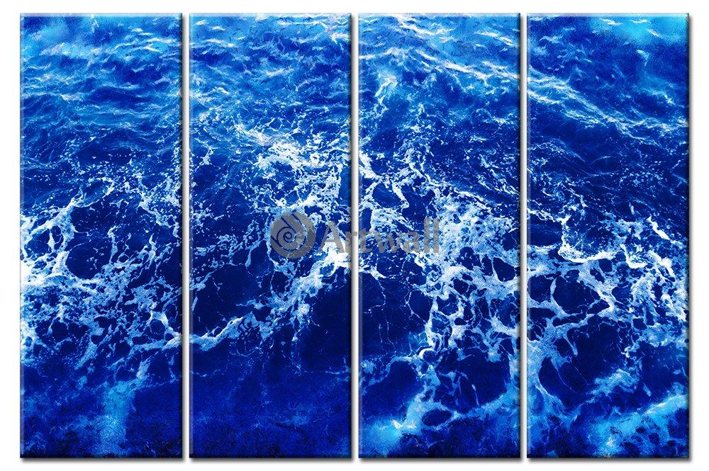 Модульная картина «Морская пена»Море<br>Модульная картина на натуральном холсте и деревянном подрамнике. Подвес в комплекте. Трехслойная надежная упаковка. Доставим в любую точку России. Вам осталось только повесить картину на стену!<br>