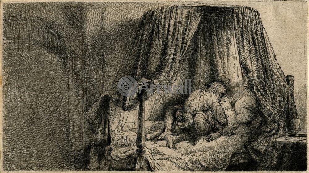 Рембрандт Харменс Ван Рейн - офорты, картина Французская кроватьРембрандт Харменс Ван Рейн - офорты<br>Репродукция на холсте или бумаге. Любого нужного вам размера. В раме или без. Подвес в комплекте. Трехслойная надежная упаковка. Доставим в любую точку России. Вам осталось только повесить картину на стену!<br>