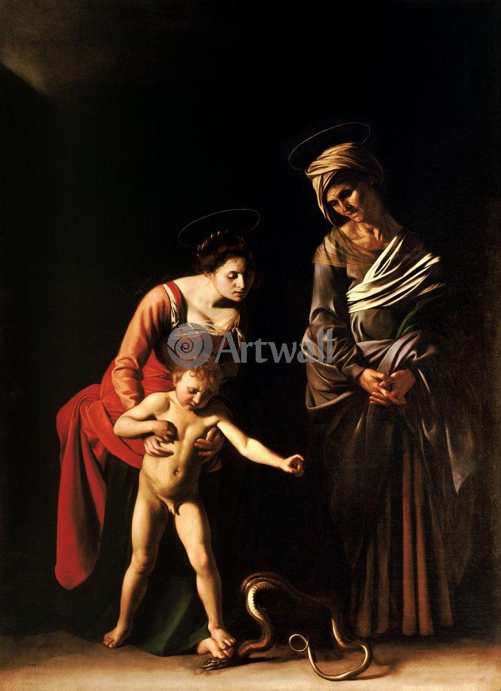 Караваджо Микеланджело, картина Мадонна с младенцем и св. АннойКараваджо Микеланджело<br>Репродукция на холсте или бумаге. Любого нужного вам размера. В раме или без. Подвес в комплекте. Трехслойная надежная упаковка. Доставим в любую точку России. Вам осталось только повесить картину на стену!<br>