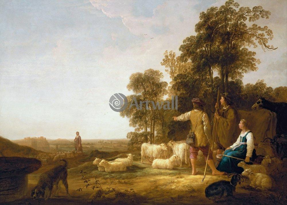 Кейп Альберт, картина Пейзаж с пастухамиКейп Альберт<br>Репродукция на холсте или бумаге. Любого нужного вам размера. В раме или без. Подвес в комплекте. Трехслойная надежная упаковка. Доставим в любую точку России. Вам осталось только повесить картину на стену!<br>