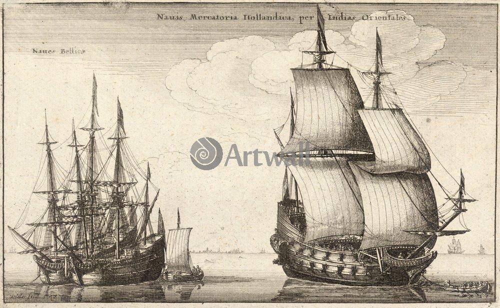 Холлар Вацлав, картина Голландские корабли в Ост ИндиюХоллар Вацлав<br>Репродукция на холсте или бумаге. Любого нужного вам размера. В раме или без. Подвес в комплекте. Трехслойная надежная упаковка. Доставим в любую точку России. Вам осталось только повесить картину на стену!<br>