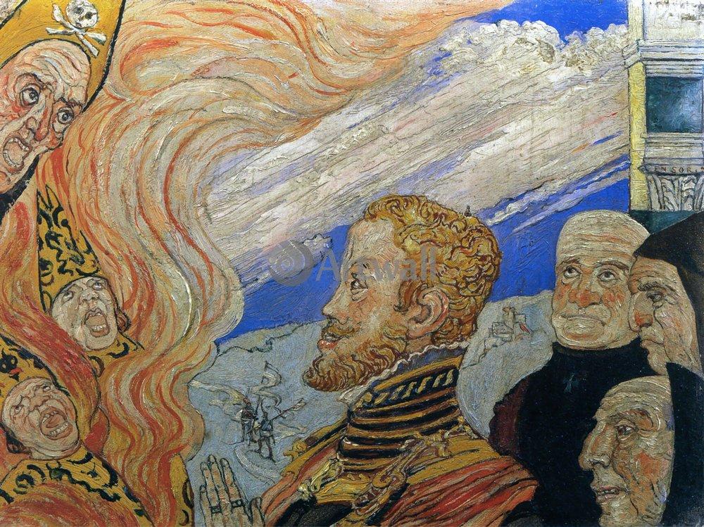 Энсор Джеймс, картина Аутодафе или Филипп II в АдуЭнсор Джеймс<br>Репродукция на холсте или бумаге. Любого нужного вам размера. В раме или без. Подвес в комплекте. Трехслойная надежная упаковка. Доставим в любую точку России. Вам осталось только повесить картину на стену!<br>