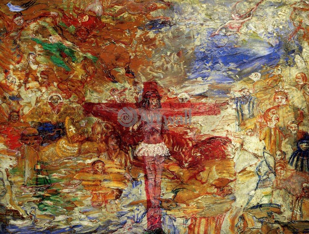 Энсор Джеймс, картина Христос на крестеЭнсор Джеймс<br>Репродукция на холсте или бумаге. Любого нужного вам размера. В раме или без. Подвес в комплекте. Трехслойная надежная упаковка. Доставим в любую точку России. Вам осталось только повесить картину на стену!<br>