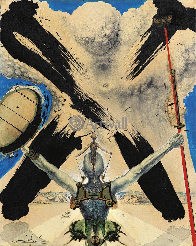 Дали Сальвадор, картина Дон Кихот атомной эрыДали Сальвадор<br>Репродукция на холсте или бумаге. Любого нужного вам размера. В раме или без. Подвес в комплекте. Трехслойная надежная упаковка. Доставим в любую точку России. Вам осталось только повесить картину на стену!<br>