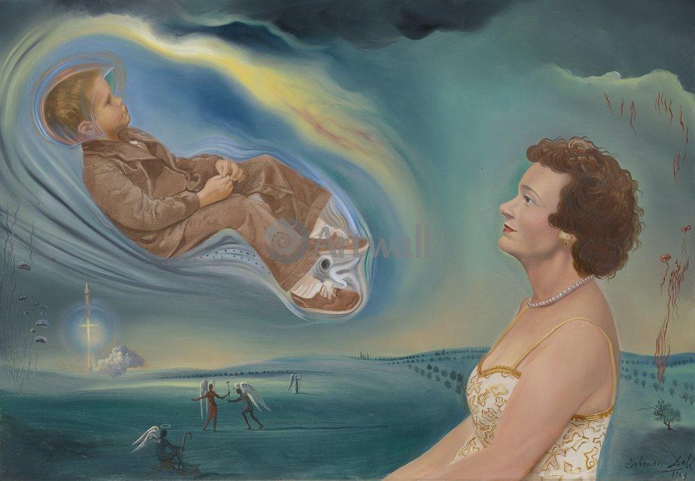 Дали Сальвадор, картина Портрет мадам Анн и её сына ДжонатанаДали Сальвадор<br>Репродукция на холсте или бумаге. Любого нужного вам размера. В раме или без. Подвес в комплекте. Трехслойная надежная упаковка. Доставим в любую точку России. Вам осталось только повесить картину на стену!<br>
